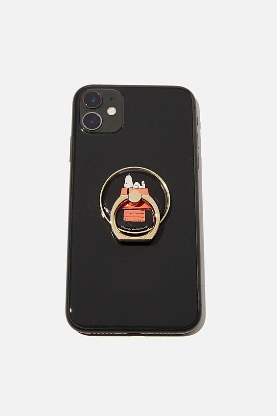 Snoopy Metal Phone Ring, LCN PEA SN RED HOUSE