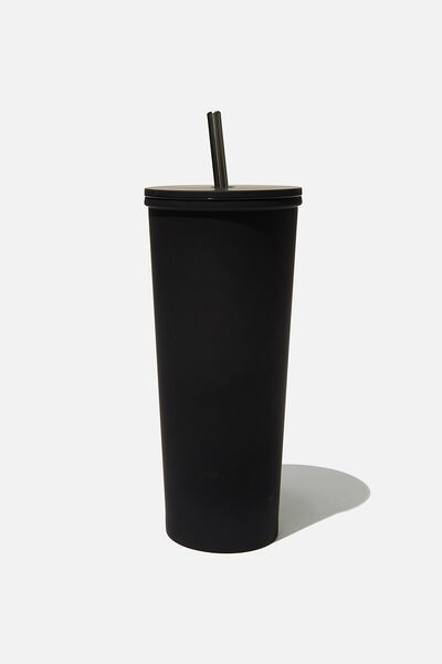 Metal Smoothie Cup, BLACK RUBBER COAT