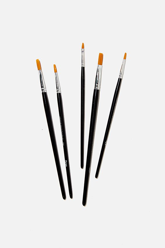 Paint Brush 5 Set, BLACK