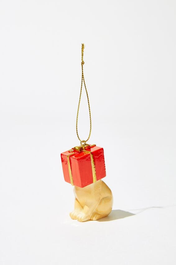 Christmas Ornament, LABRADOR IN PRESENT