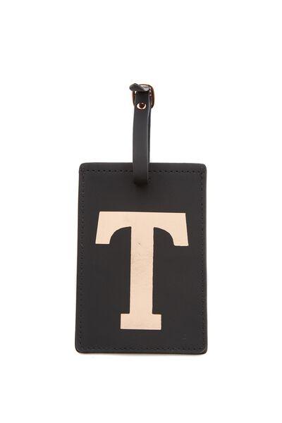 Alphabet Luggage Tag, T