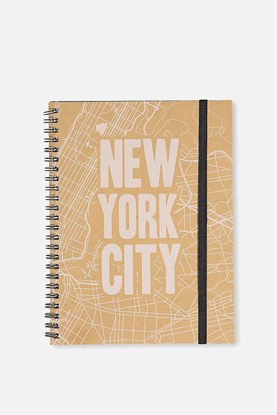 A5 Spinout Notebook - 120 Pages, NEW YORK CRAFT MAP