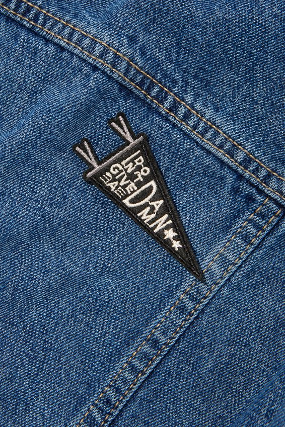 Fabric Badge, DON T GIVE A DAMN