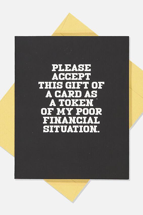 Funny Birthday Card, POOR FINANCIAL
