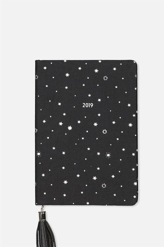 2019 Fabric Diary, BLACK STARS