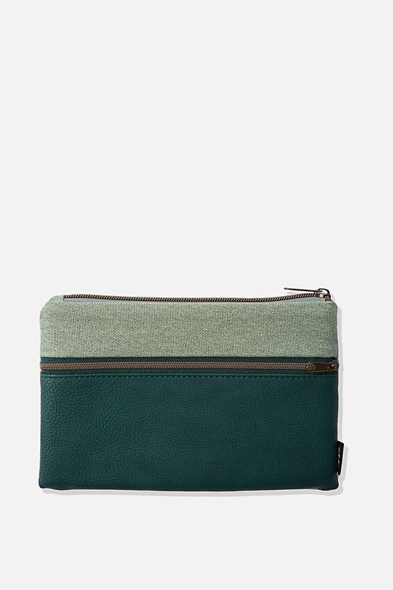 Archer Pencil Case, DEEP GREEN