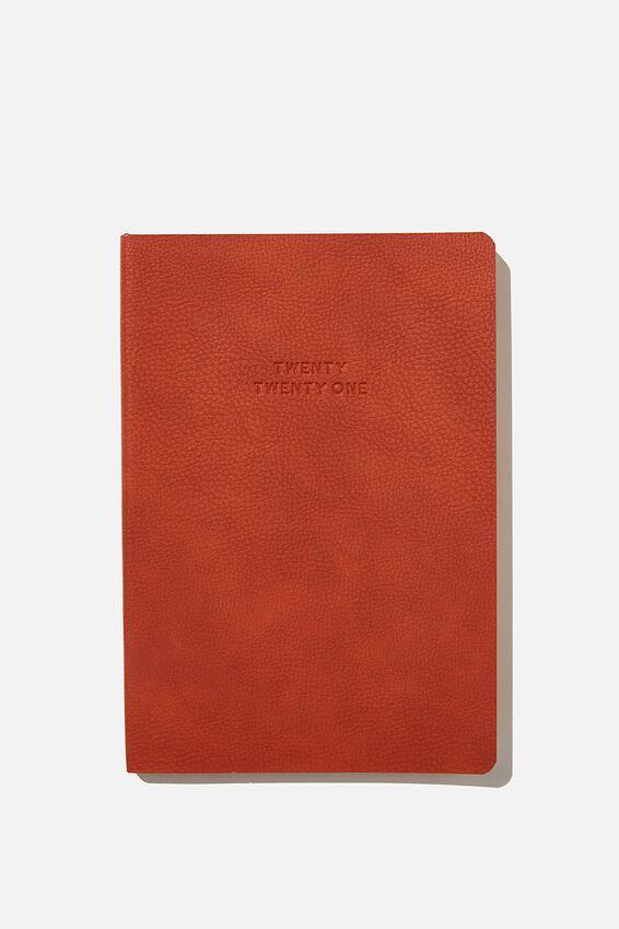 2021 Soft A5 Weekly Buffalo Diary, RUST