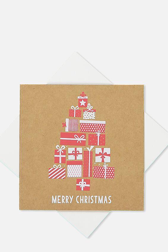 2018 Mini Christmas Card, MERRY CHRISTMAS TREE