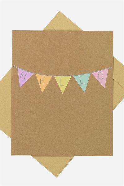 Blank Card, HELLO BUNTING