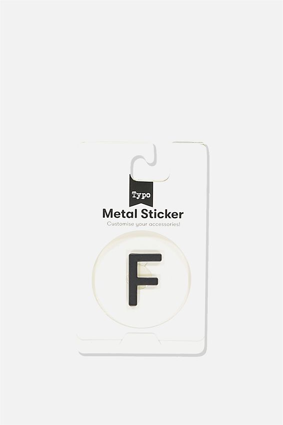 Metal Stickers, BLACK F