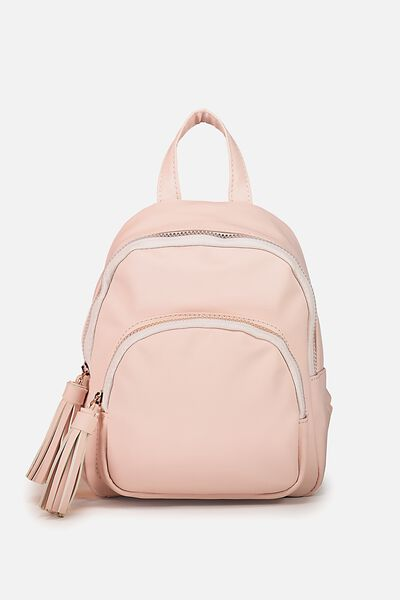 Mini Madrid Backpack Pink Fringe
