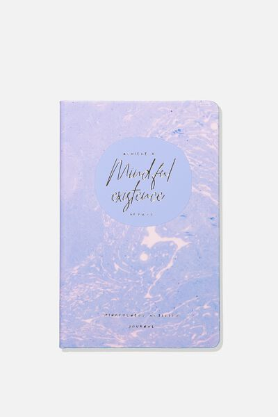 Premium Activity Journal, MARBLE PURPLE BE MINDFUL