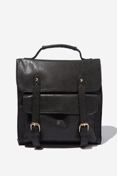 Buffalo Satchel Backpack, BLACK