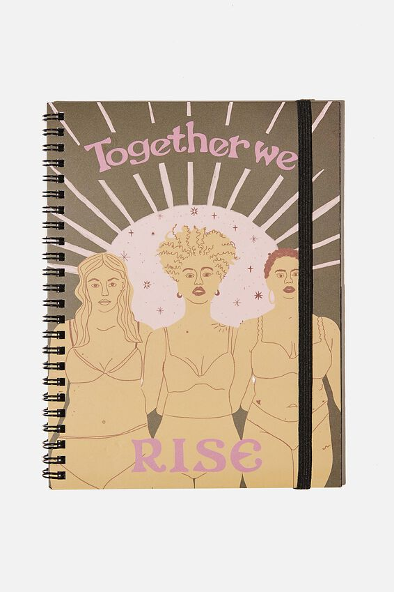 A5 Spinout Notebook Recycled, TOGETHER WE RISE