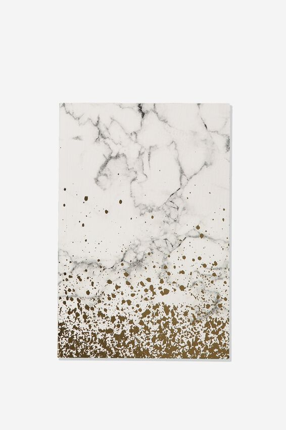 A5 Textured Notebook, WHITE MARBLE