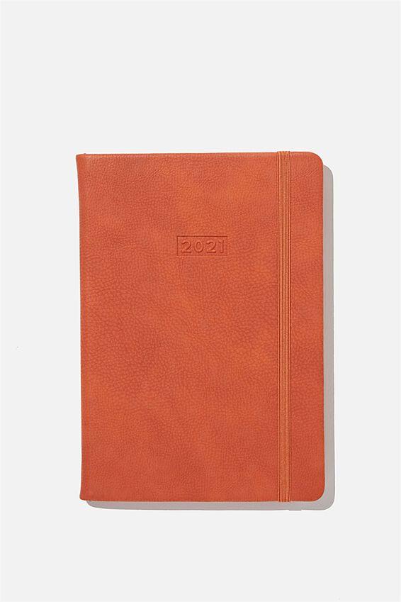 2021 A5 Weekly Buffalo Diary, RUST