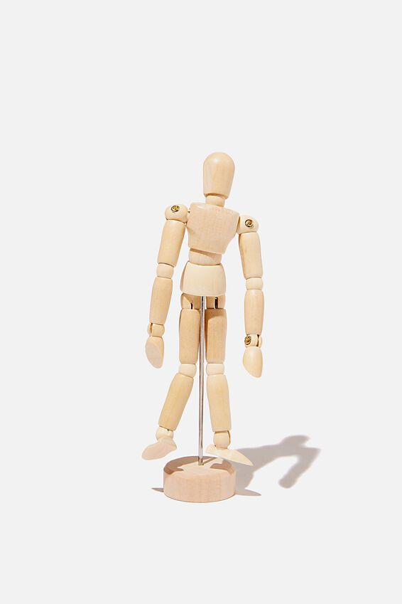 Manikin Man 30.5Cm, NATURAL WOOD