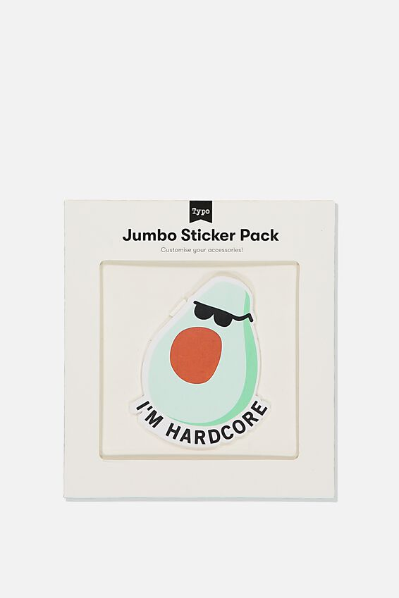 Jumbo Sticker, HARDCORE AVO