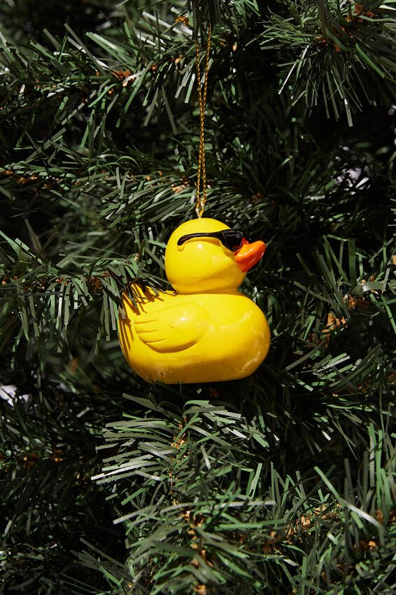 Resin Christmas Ornament, COOL RUBBER DUCKY
