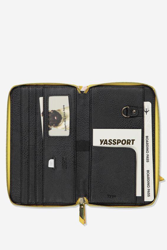 Rfid Odyssey Travel Compendium Wallet, MUSTARD FLORAL