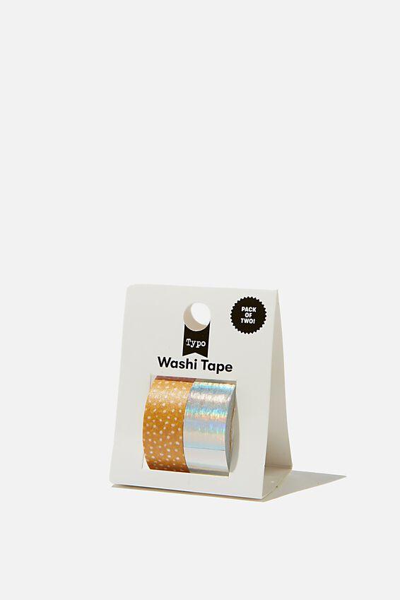 Washi Tape 2Pk, PINK AND YELLOW SPOT