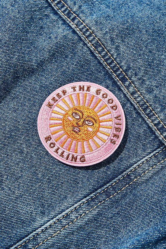 Fabric Badge, GOOD VIBES ROLLING