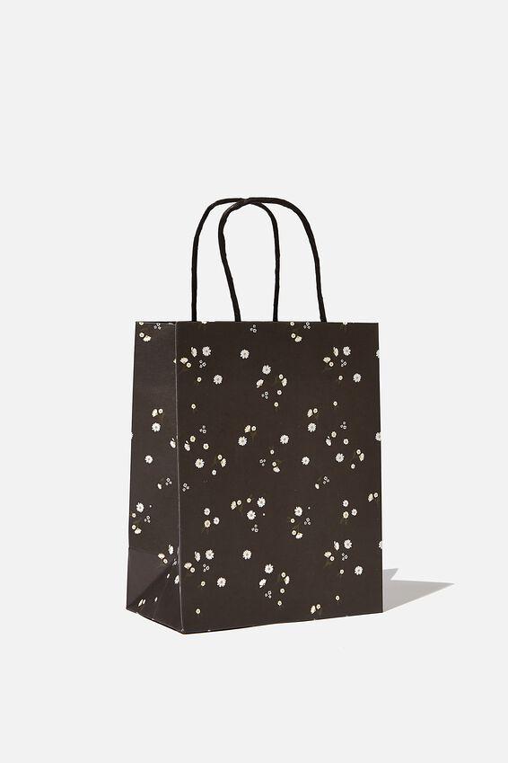 Get Stuffed Gift Bag - Small, BLACK DAISY MEADOWS