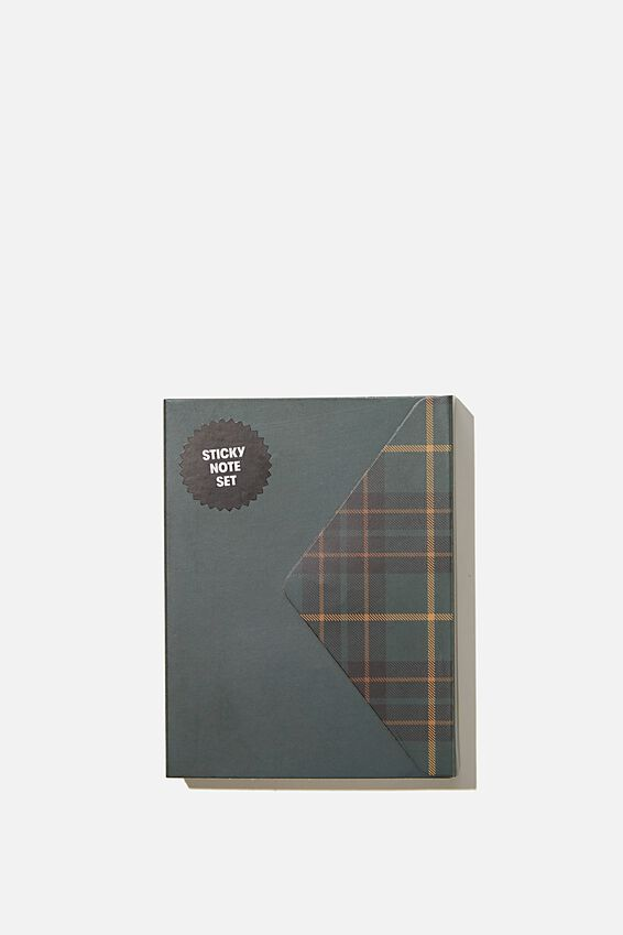 Pocket Sticky Note Set, DEEP GREEN