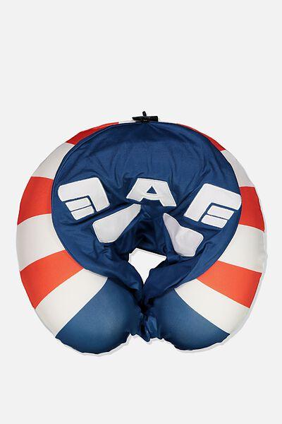 Travel Neck Pillow with Hood, LCN MARVEL CAPTAIN AMERICA