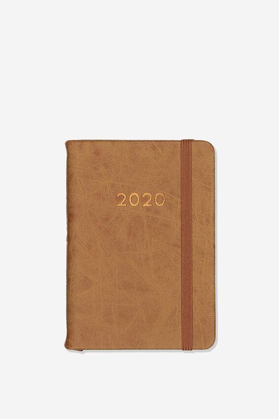 2020 A6 Daily Buffalo Diary, MID TAN