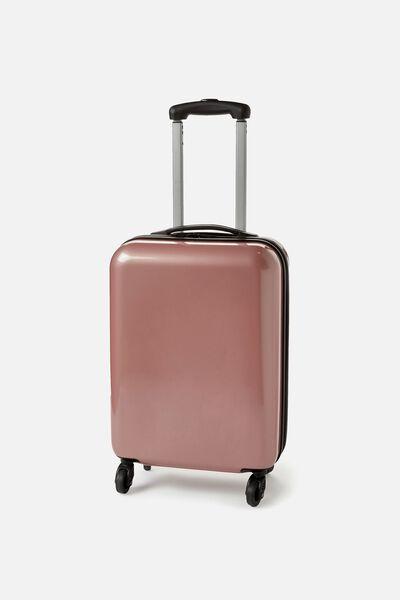 Small Suitcase Metallic Rose Gold