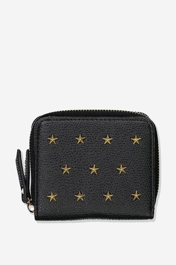 Mini Wallet, BLACK STARS