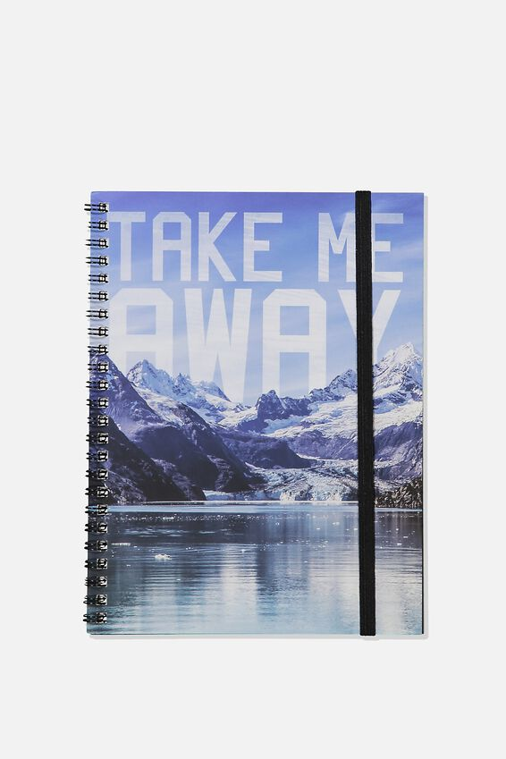 A5 Spinout Notebook Recycled, TAKE ME AWAY