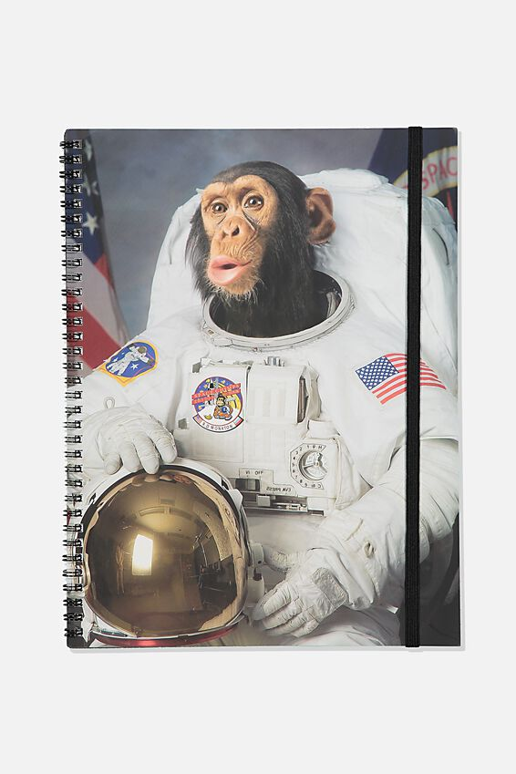 A4 Spinout Notebook Recycled, TBAR SPACE MONKEY