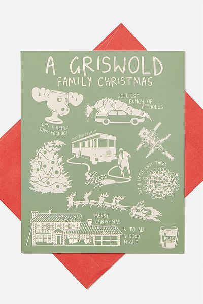Christmas Card 2020, LCN WB LAMPOONS GRISWOLD ICONS!