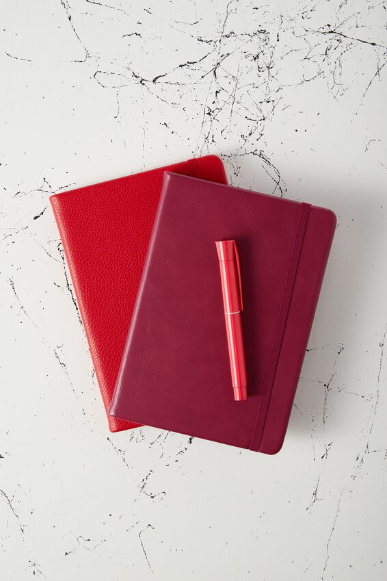 A5 Dot Buffalo Journal, BURGUNDY