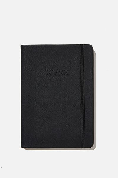 2021 22 A5 Weekly Buffalo Diary, JET BLACK