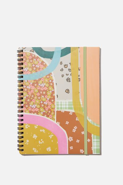 A5 Spinout Notebook Recycled, ABSTRACT DITSEY ARCHES