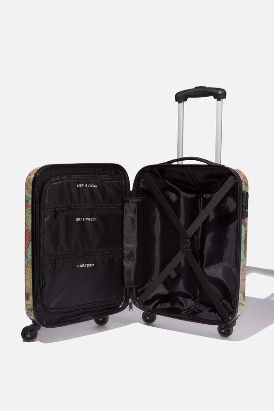 Tsa Small Suitcase, WORLD MAP PRINT