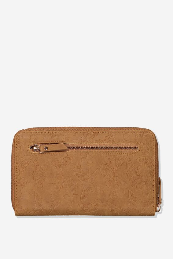 Odyssey Travel Compendium, BUTTERFLY TOOLED MID TAN