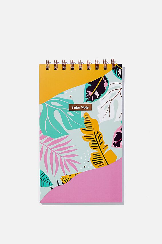 Flipout Notepad Recycled, JUNGLE FLORAL SPLICE