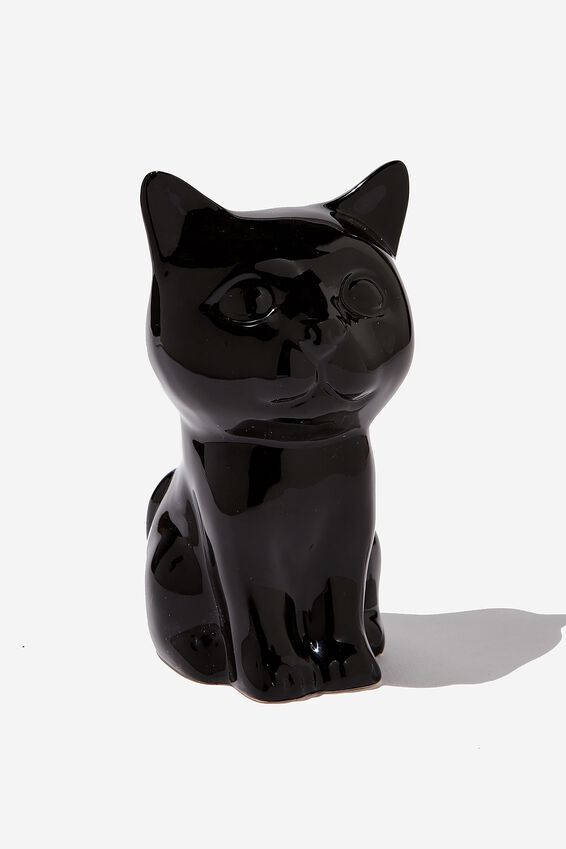 Pen Holder, BLACK CAT SITTING