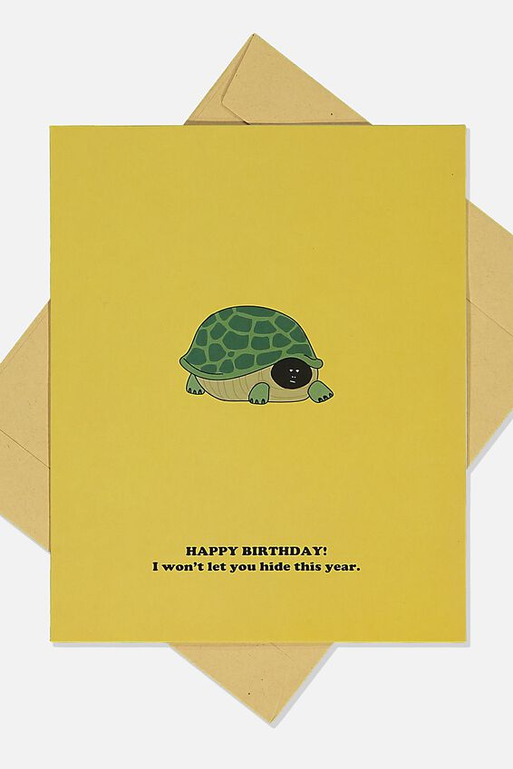 Funny Birthday Card, TURTLE HIDE THIS YEAR