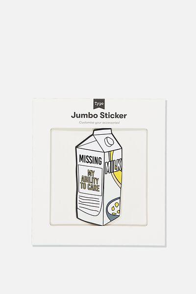 Jumbo Sticker, MILK