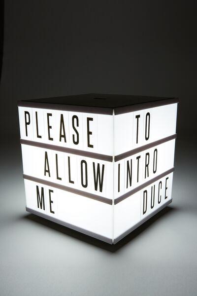 Cube Light Box, BLACK