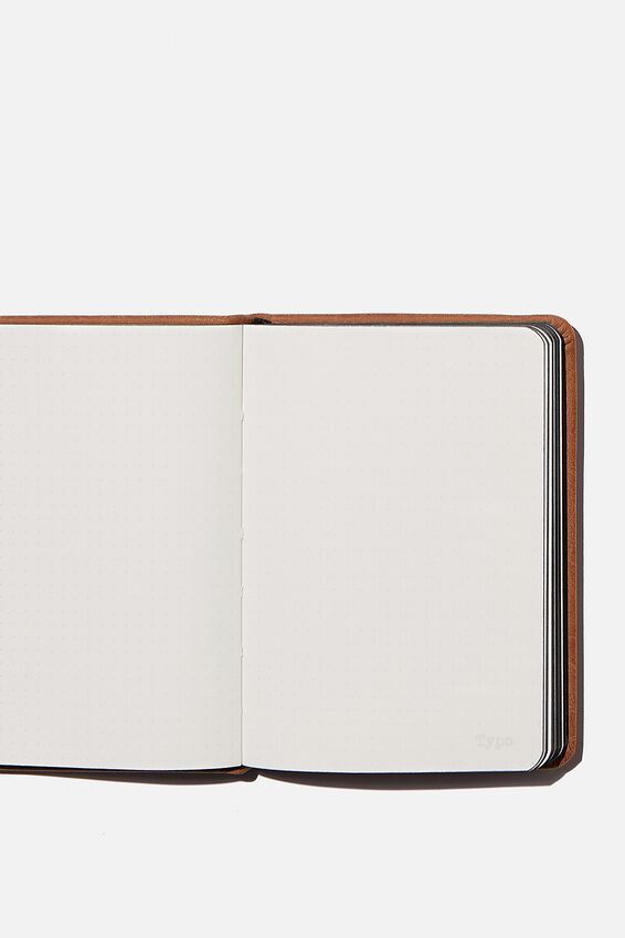 A6 Buffalo Dot Journal, MID TAN