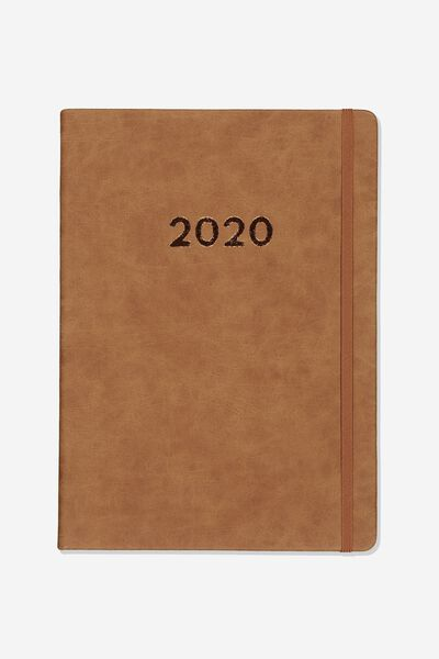 2020 A4 Daily Buffalo Diary, MID TAN
