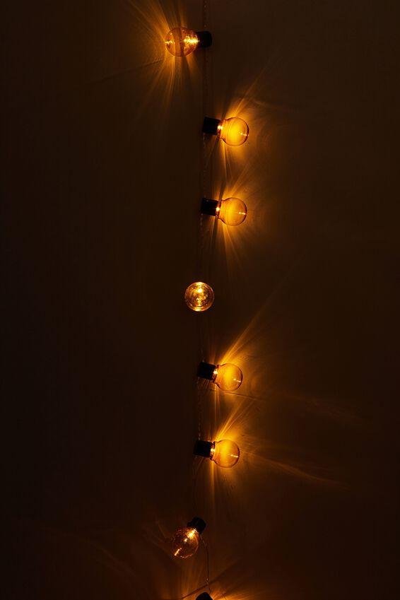 Festoon String Light, AMBER BULBS