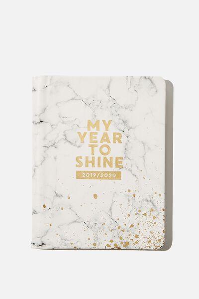 2019/20 A5 Hidden Spiral Diary, MARBLE