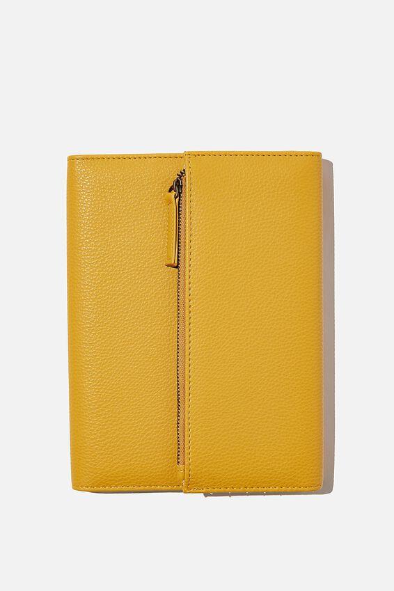 2021 Zip Pocket Diary, MUSTARD
